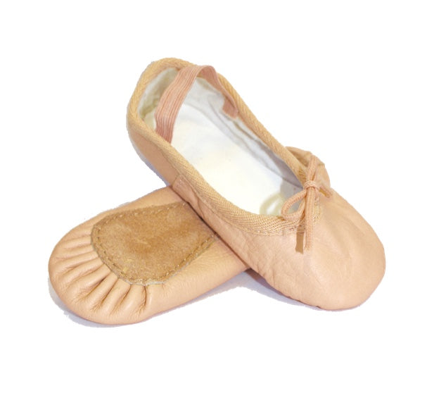 pink ballet shoes for girls leather pre sewn elastic size 6 7 8 9 10 11 12