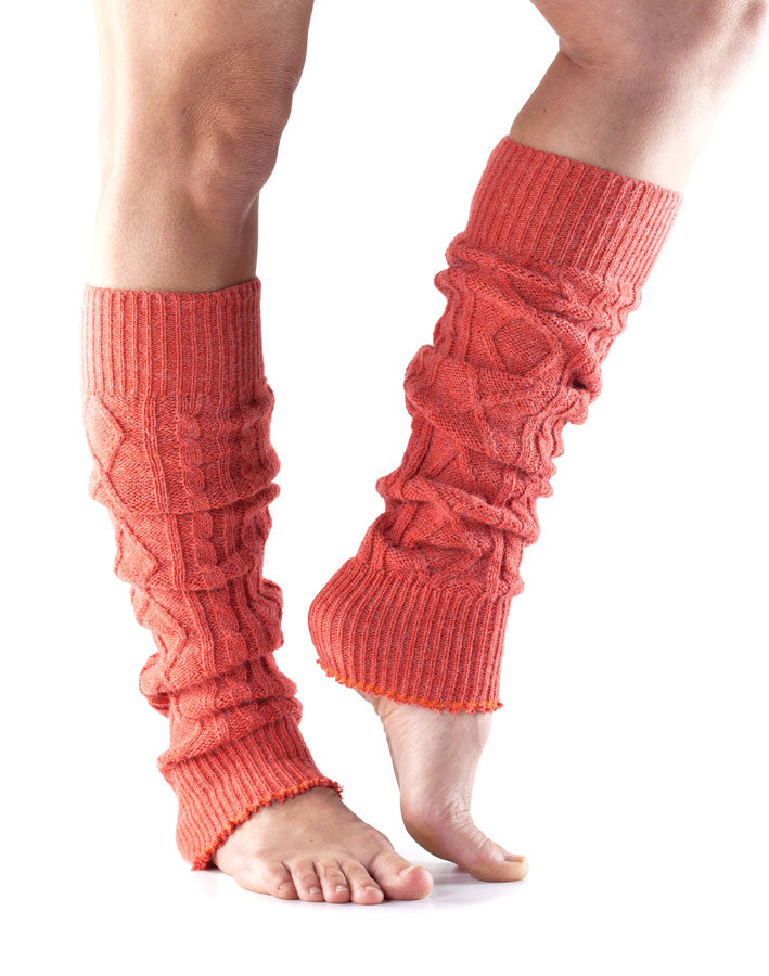 Knee High Dance Leg Warmers By ToeSox, Coral Pink