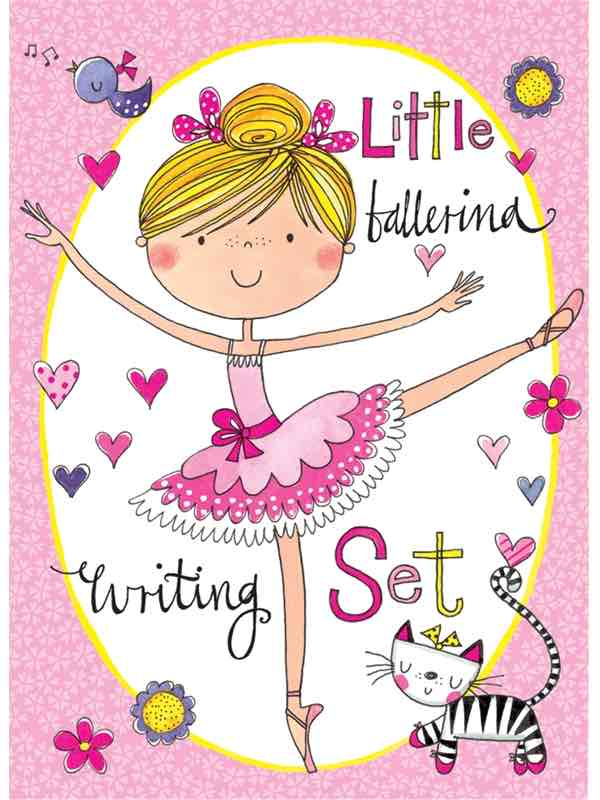 Little Ballerina Ballet Writing Set By Rachel Ellen Designs - Ballet Gifts For Girls