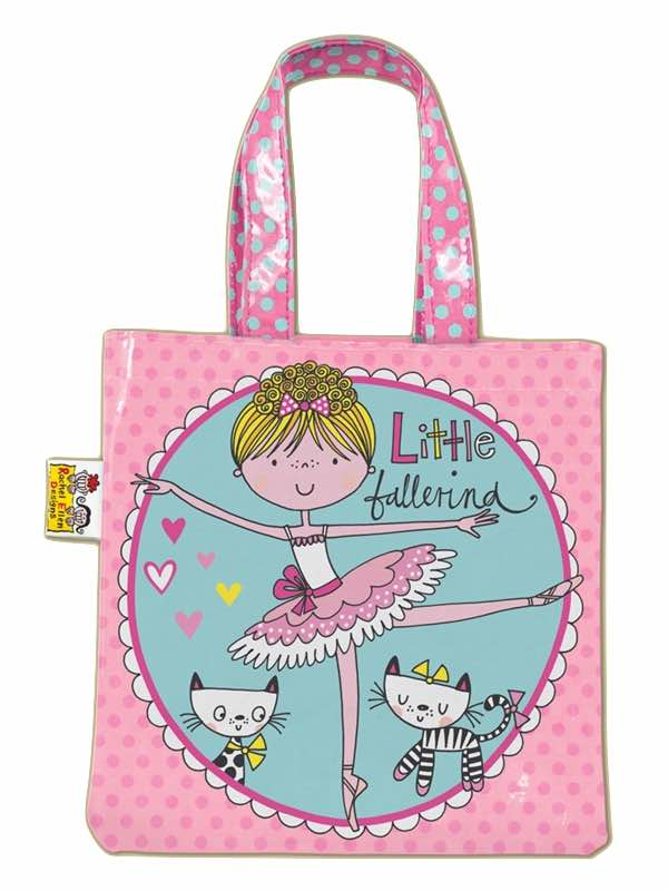 Little Ballerina Mini Tote Bag by Rachel Ellen Pink Ballet Bag PDE Online Dance Shop