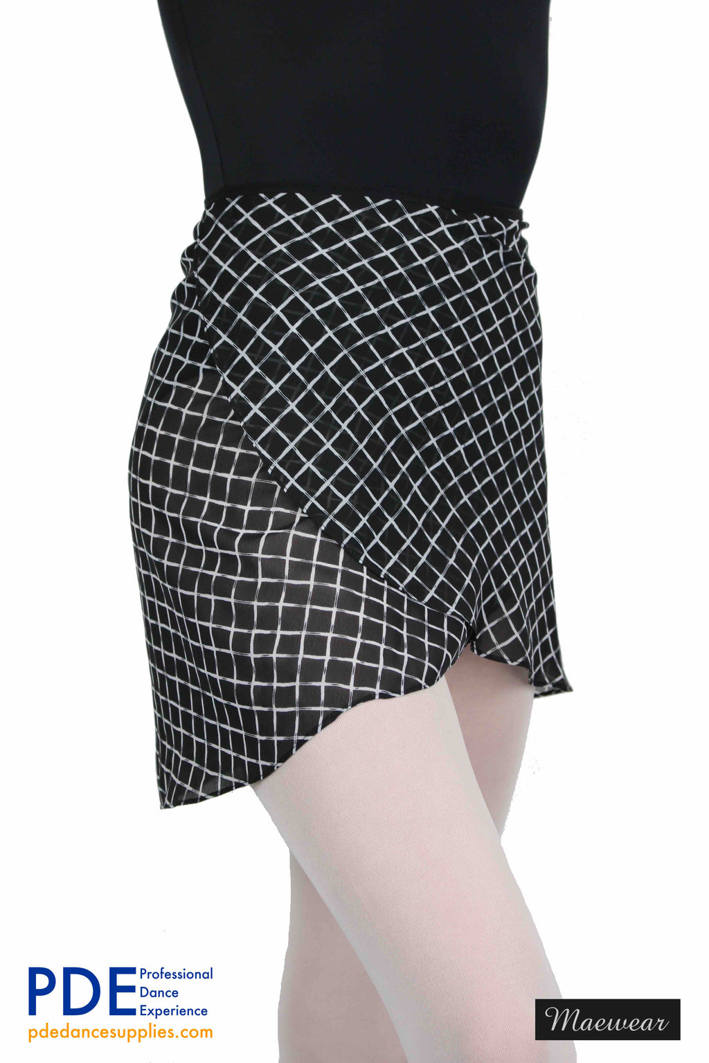 Maewear Ballet Skirt Squares PDE Dance Supplies Wrap Over Skirts For Ballet Class