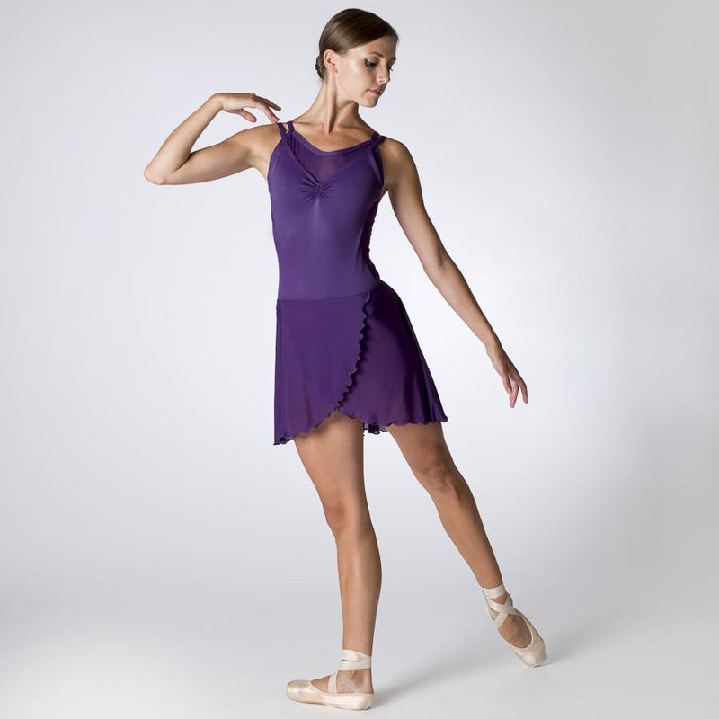 Purple Camisole Leotard with Mesh Back by Dansez PDE Dance Supplies Ballet Leotards