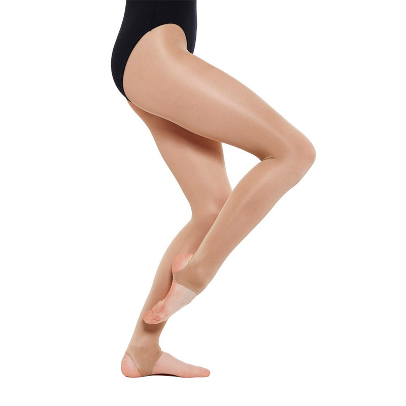 GIRLS CONVERTIBLE BALLET TIGHTS TAN AGE 11-13 YEARS BY SILKY DANCE