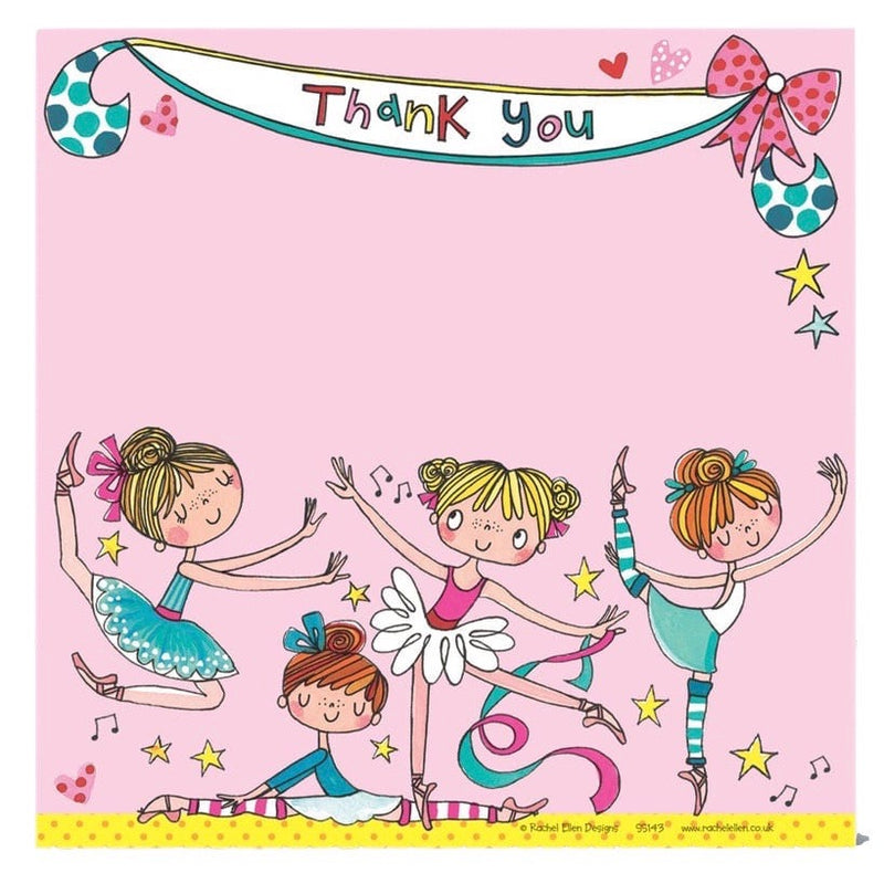 Single Sided Thank You Card For Dance Teacher