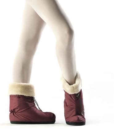 Tendu Warm Up Boots Burgundy