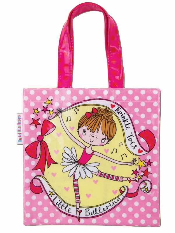 Twinkle Toes Little Ballerina Mini Tote Bag Dance Bag By Rachel Ellen Designs PDE Dance Supplies Online Dance Shop