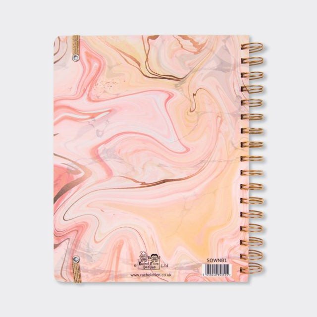 Wiro Notebook Pink Marble Notes Rachel Ellen Back