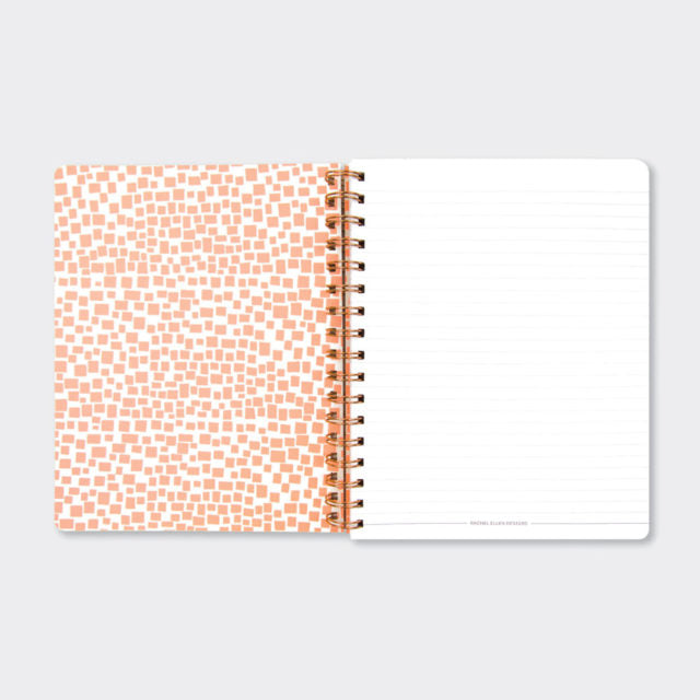 Wiro Notebook Pink Marble Notes Rachel Ellen Inside