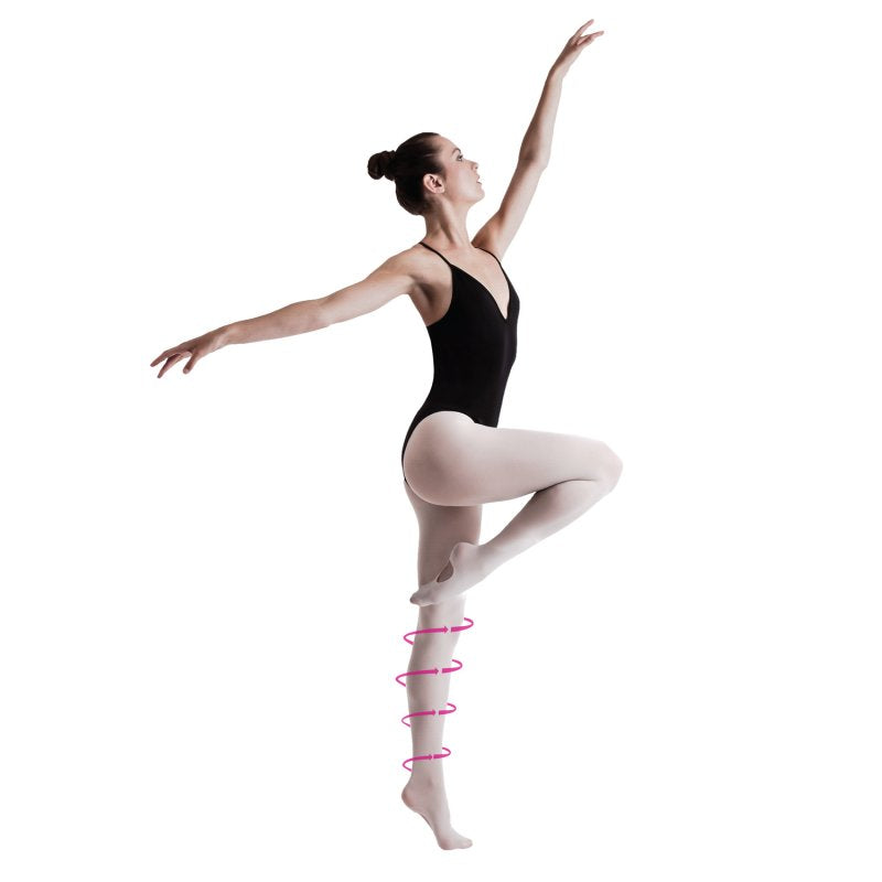 compression dance tights support plus ballet tights by silky dance