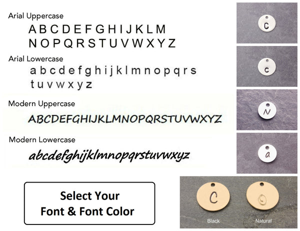 font and font options for the disc
