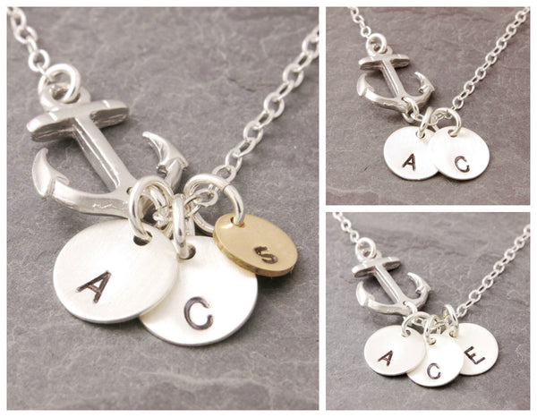 Anchor Necklace (1-5 Initials)