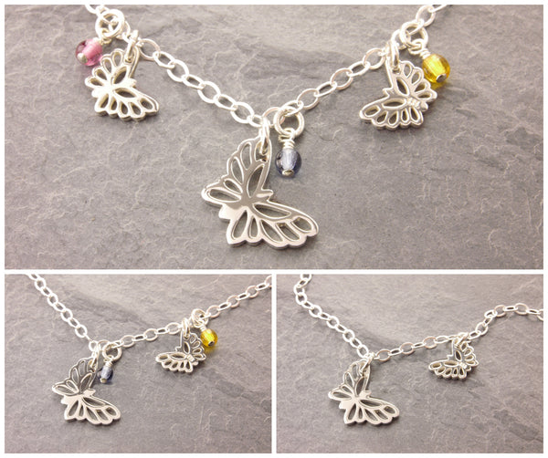 butterfly necklace design options