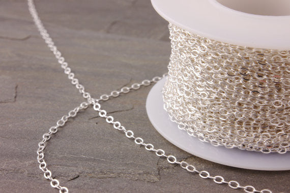 chain extension of a sterling silver chain