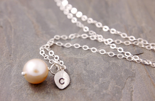 personalized pink pearl necklace