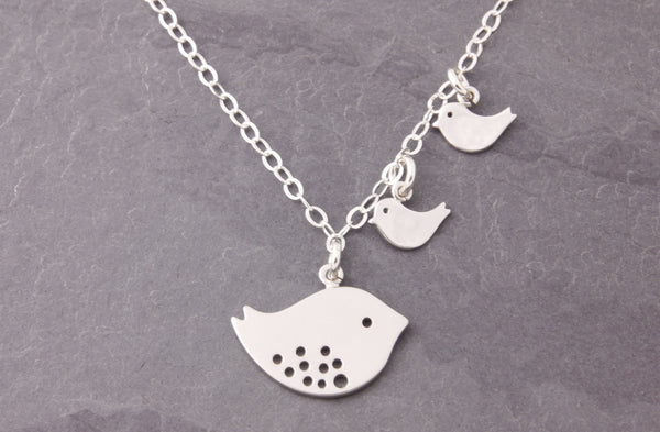 mom and chick necklace without personalization