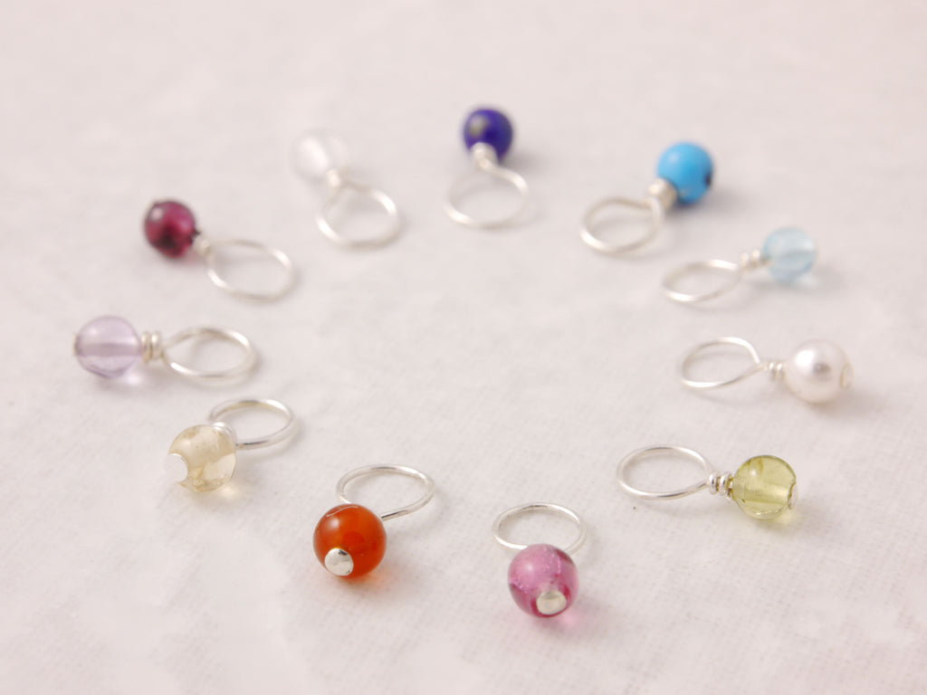 mini birthstone charm