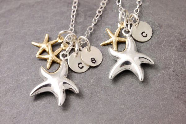 mother-daughter starfish necklace