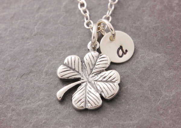 personalized shamrock necklace