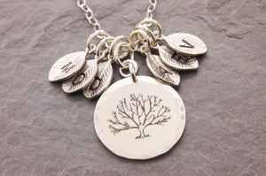 initialized tree of life necklace
