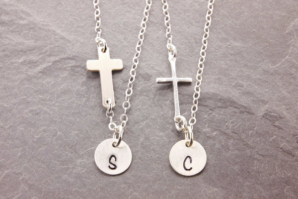 matching cross necklaces