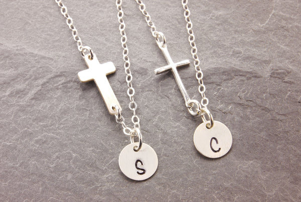 mother daughter cross necklaces