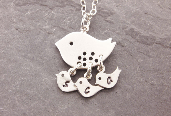 personalized bird necklace