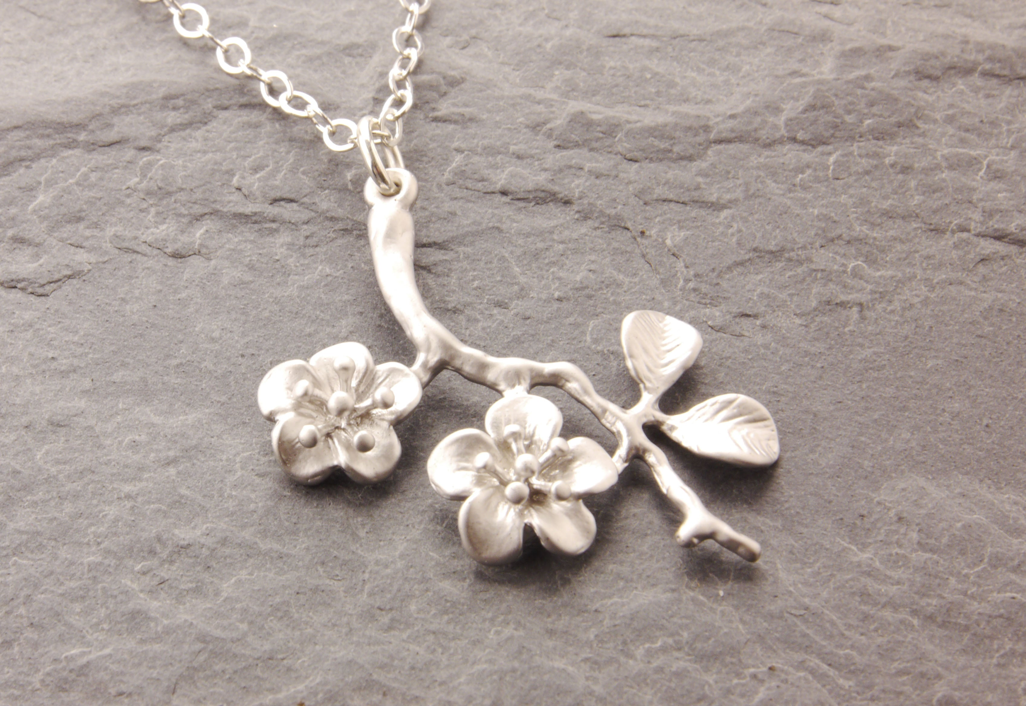 cherry blossom mother necklace