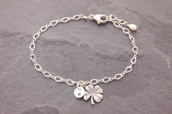 personalized shamrock bracelet