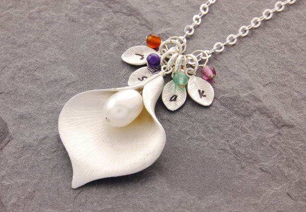 personalized calla lily jewelry