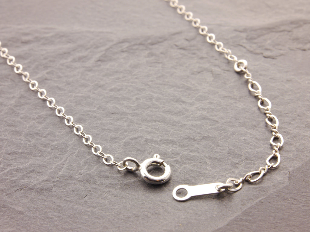 adjustable sterling silver chain necklace