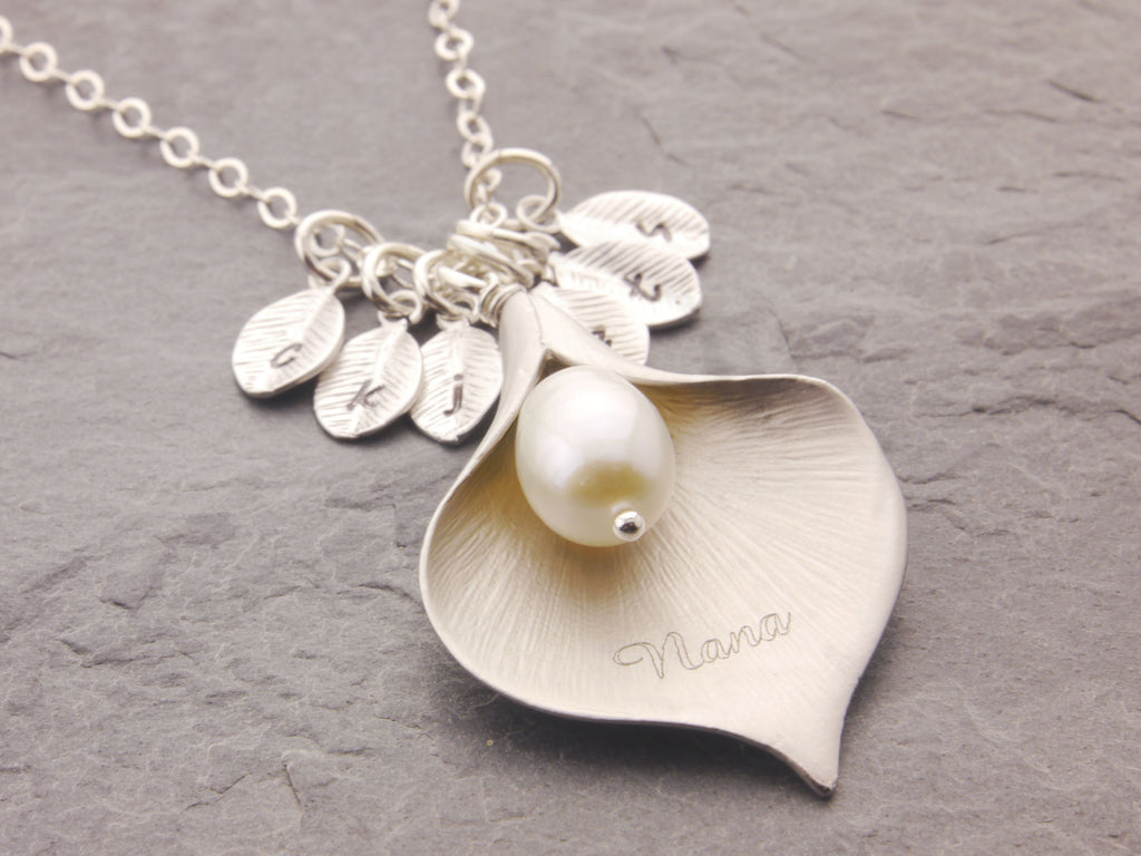 Calla Lily with Name and Initial