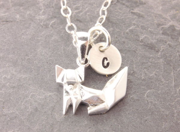 origami fox necklace
