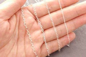 sterling silver plain chain