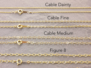 14k gold filled necklace chains