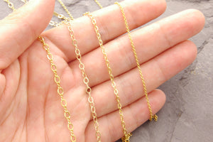 14k Gold Filled Chain Necklace, 1g