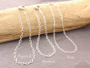sterling silver chain anklet