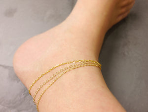 gold chain anklet