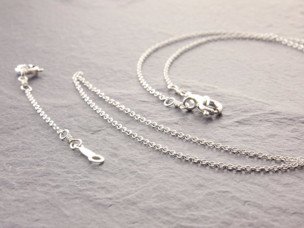 sterling silver delicate necklace with an adjuster