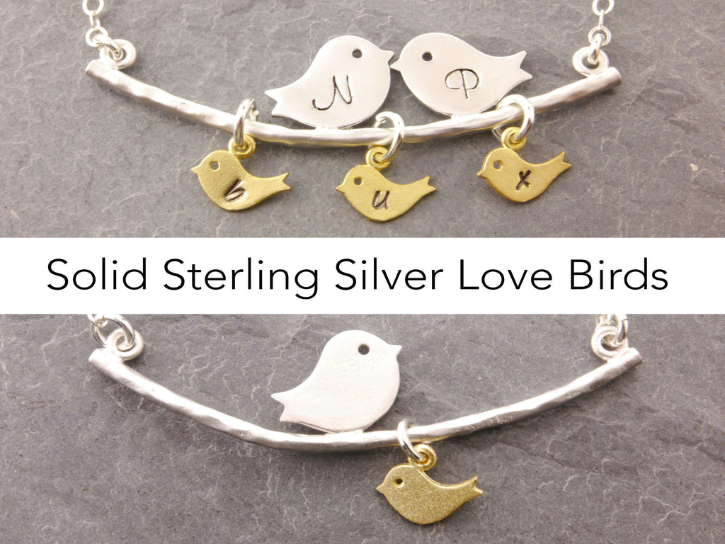 sterling silver love birds