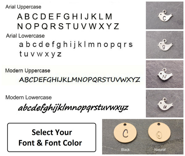 font and font options for the bracelet