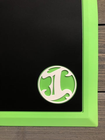 Tapered Workstation Mat - Limited Lime Green/Black/White