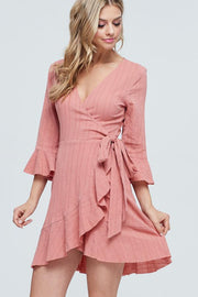 Make A Move Mauve Wrap Dress