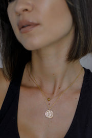 Retro Saint Coin Necklace
