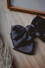 I'm Biased black satin bow