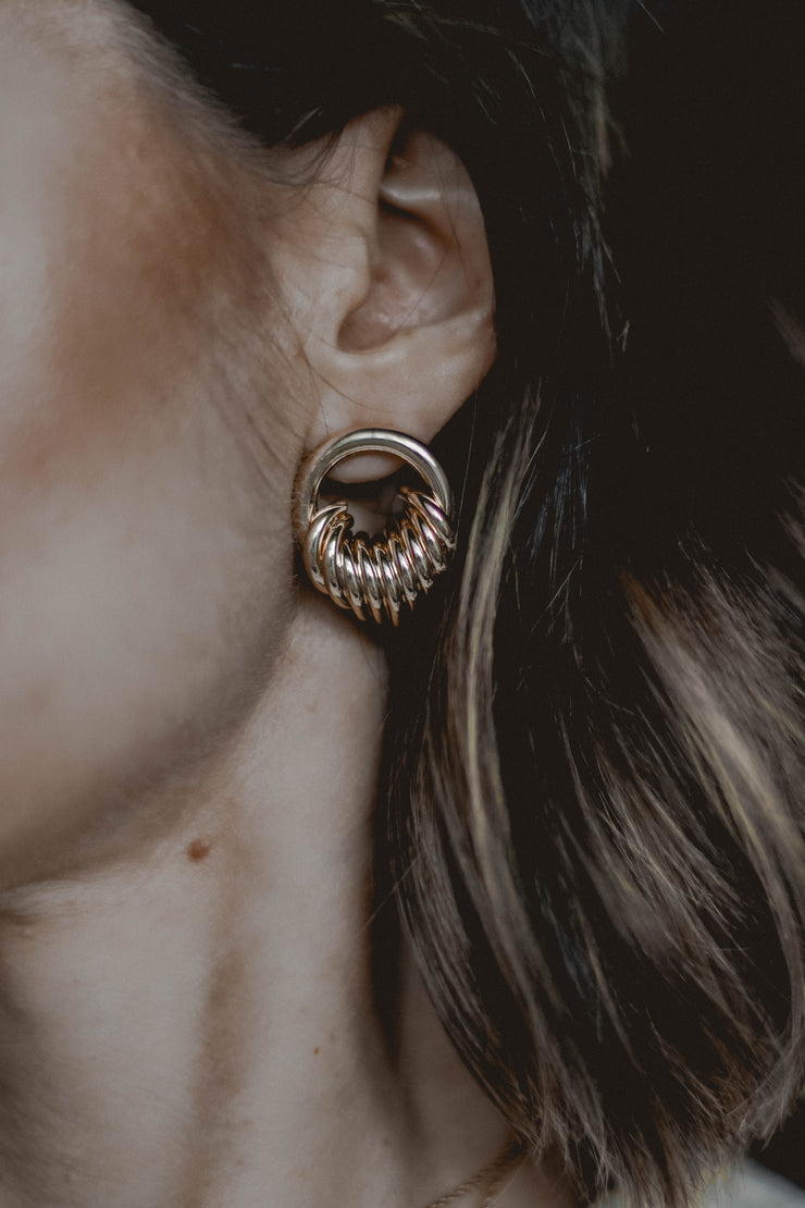Royal Gardens gold earrings