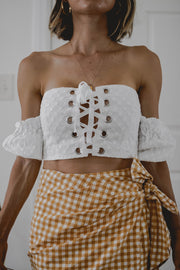 Maisee Eyelet Crop Top