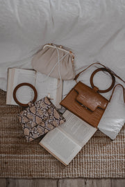 Le Coco faux leather crossbody