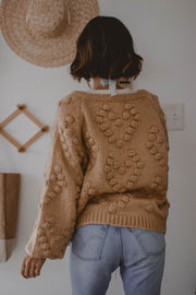 Tahoe in Fall Pom-Pom cardigan