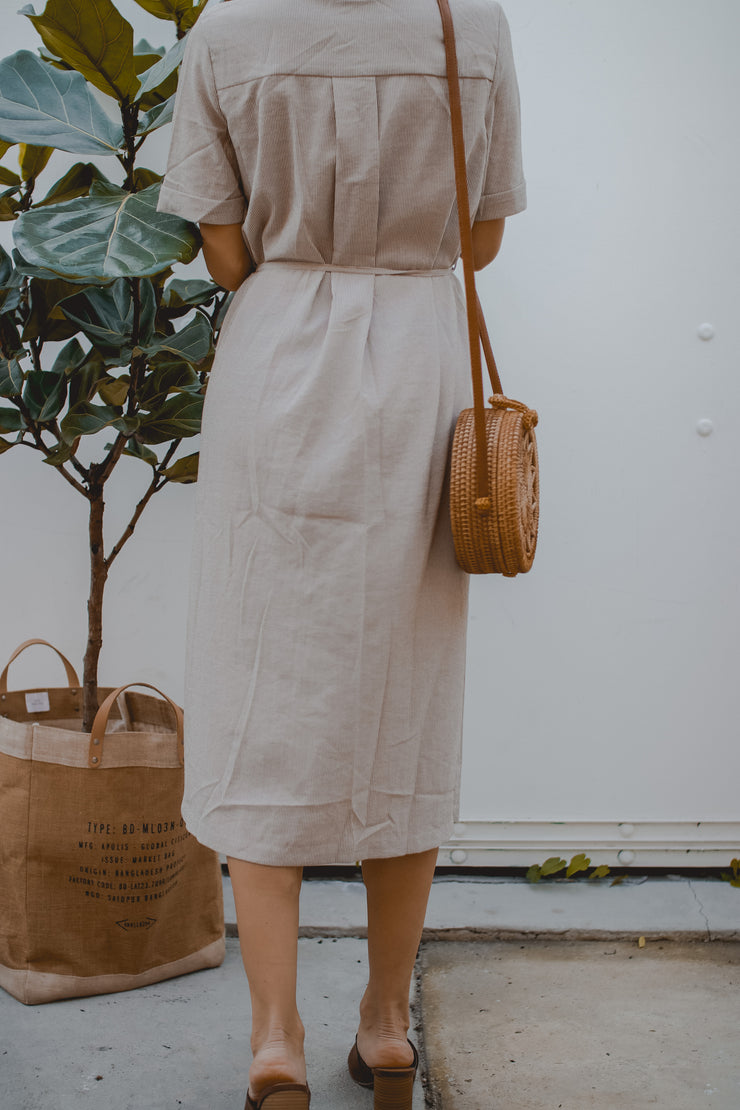 Brunch With Me Woven Stripe Dress