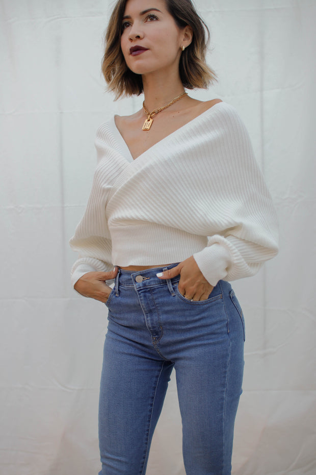 Off Topic Cross-Wrap Blouse